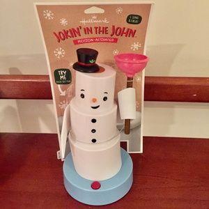 Hallmark Jokin' John Talking Toilet Paper Snowman
